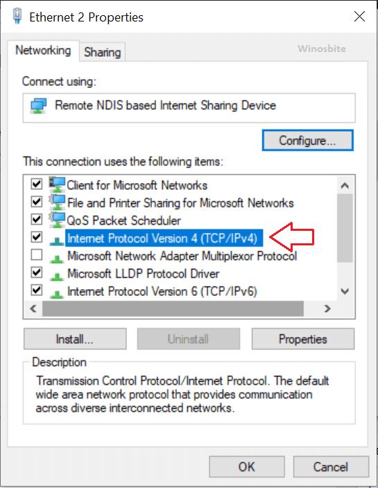 Internet protocoal версия 4 tcp ip