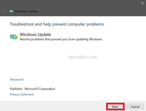 Центр обновления Windows подтвердить