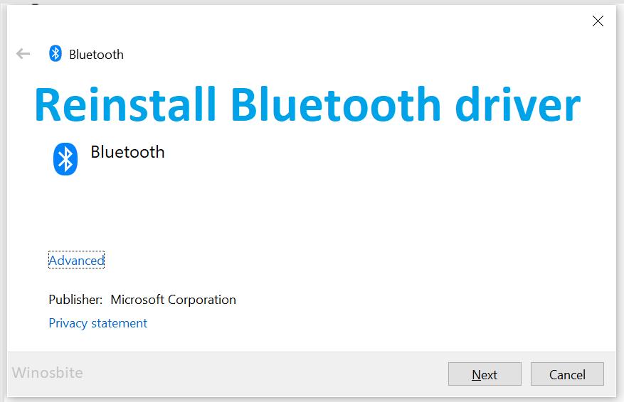 Переустановите драйвер Bluetooth в Windows 11 и 10.